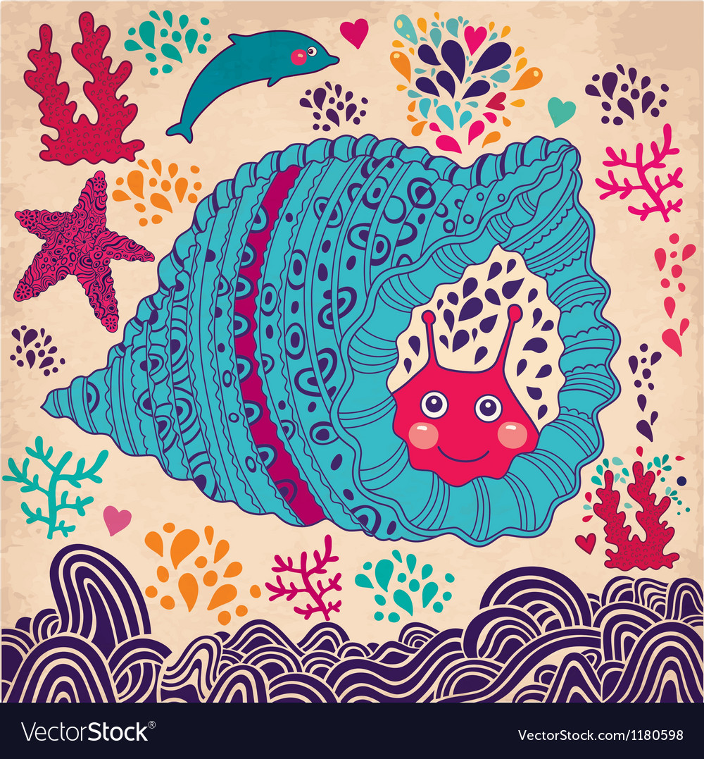 Under the sea design vector | Price: 3 Credit (USD $3)