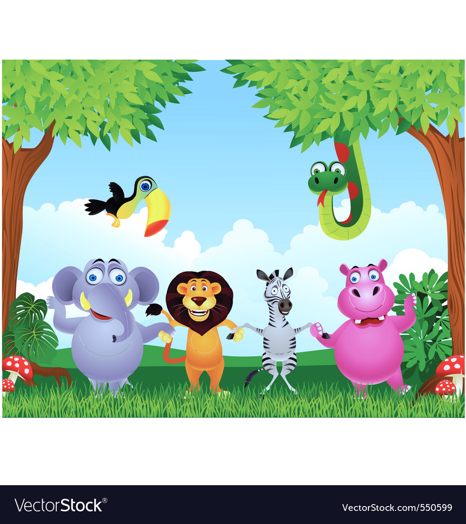 Animal cartoon vector | Price: 3 Credit (USD $3)
