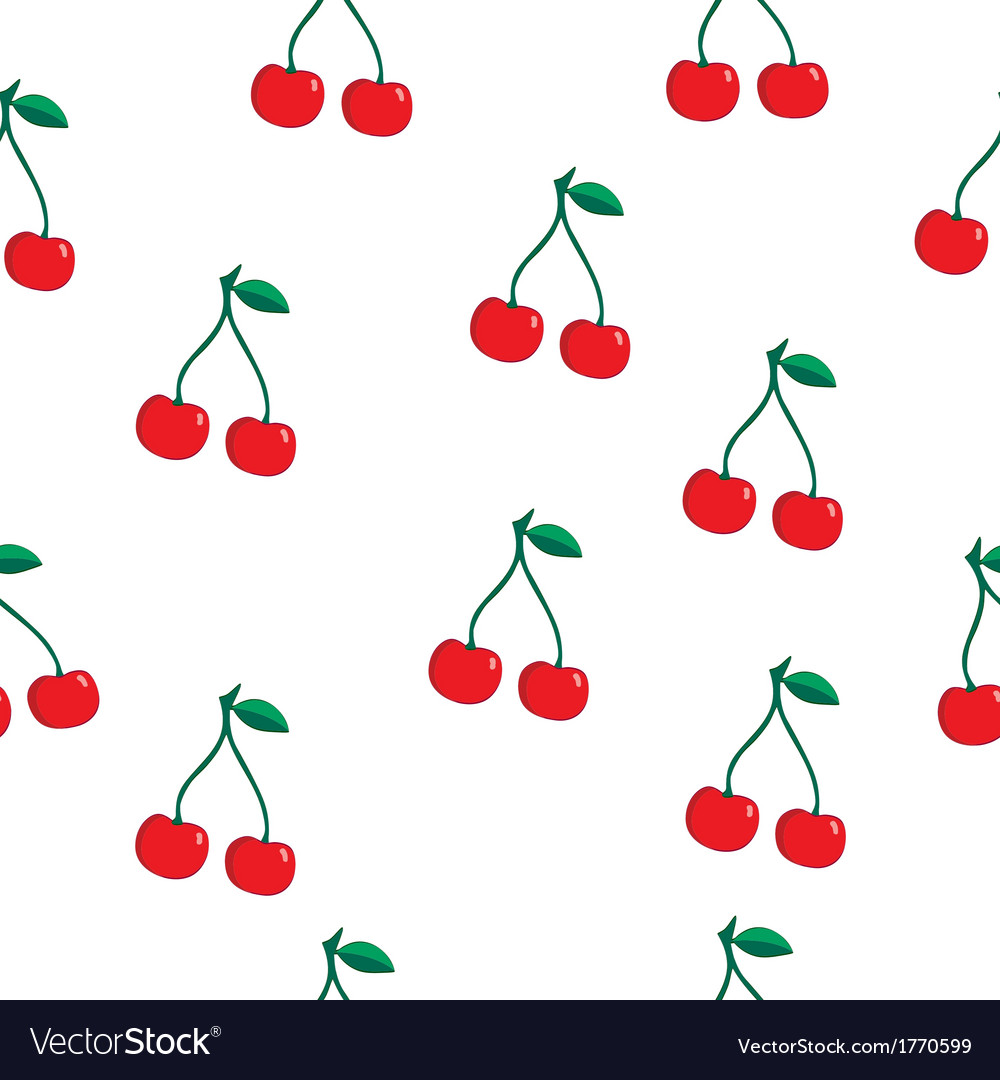 Cherry pattern resize vector | Price: 1 Credit (USD $1)