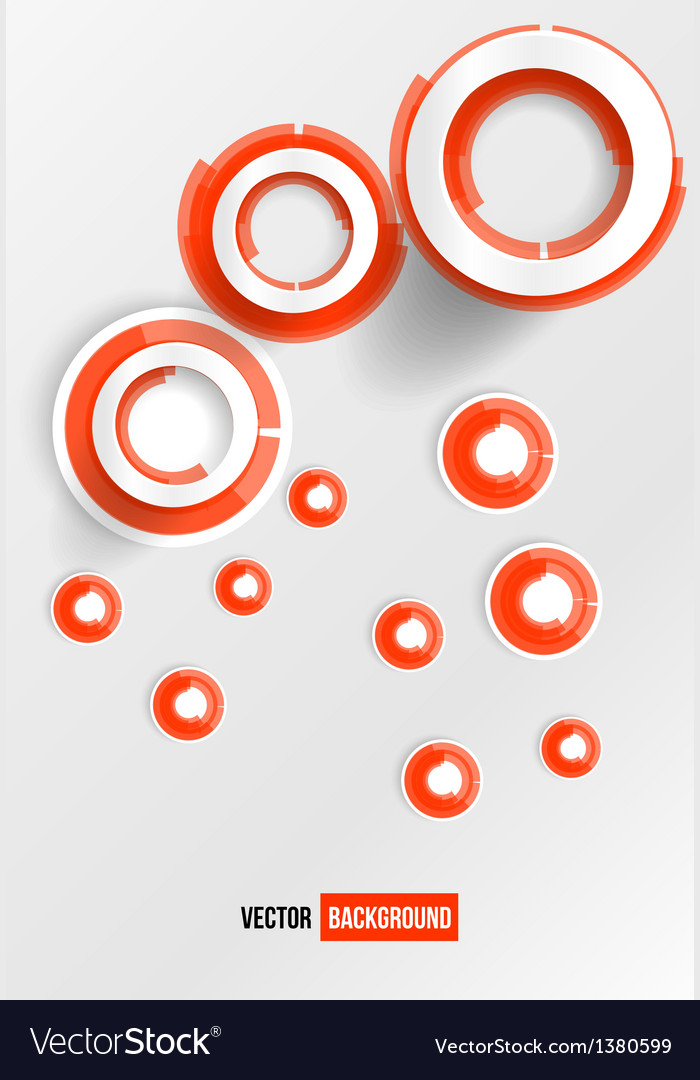 Circles abstract logo red and white vector | Price: 1 Credit (USD $1)