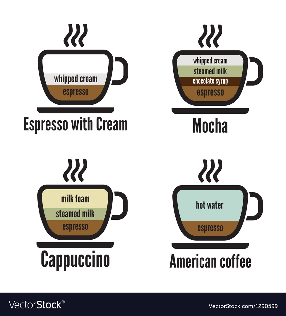 Diagram types of coffee vector   Price: 1 Credit (USD $1)