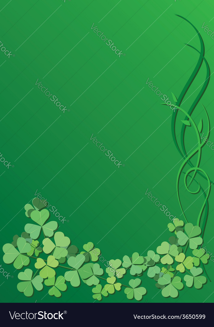 Green floral background for saint patrick day vector | Price: 1 Credit (USD $1)