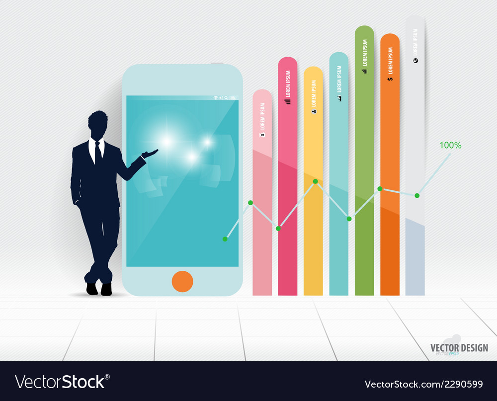 Infographic design template businessman showing vector | Price: 1 Credit (USD $1)