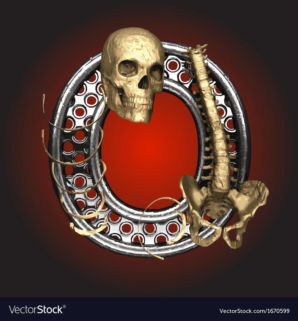 Metal figure with skeleton vector   Price: 1 Credit (USD $1)