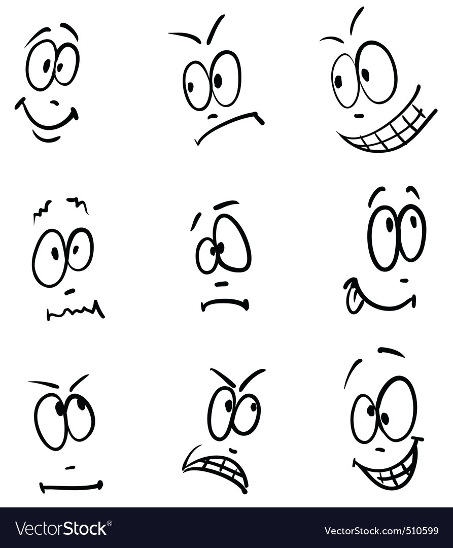 N vector set of nine face vector | Price: 1 Credit (USD $1)