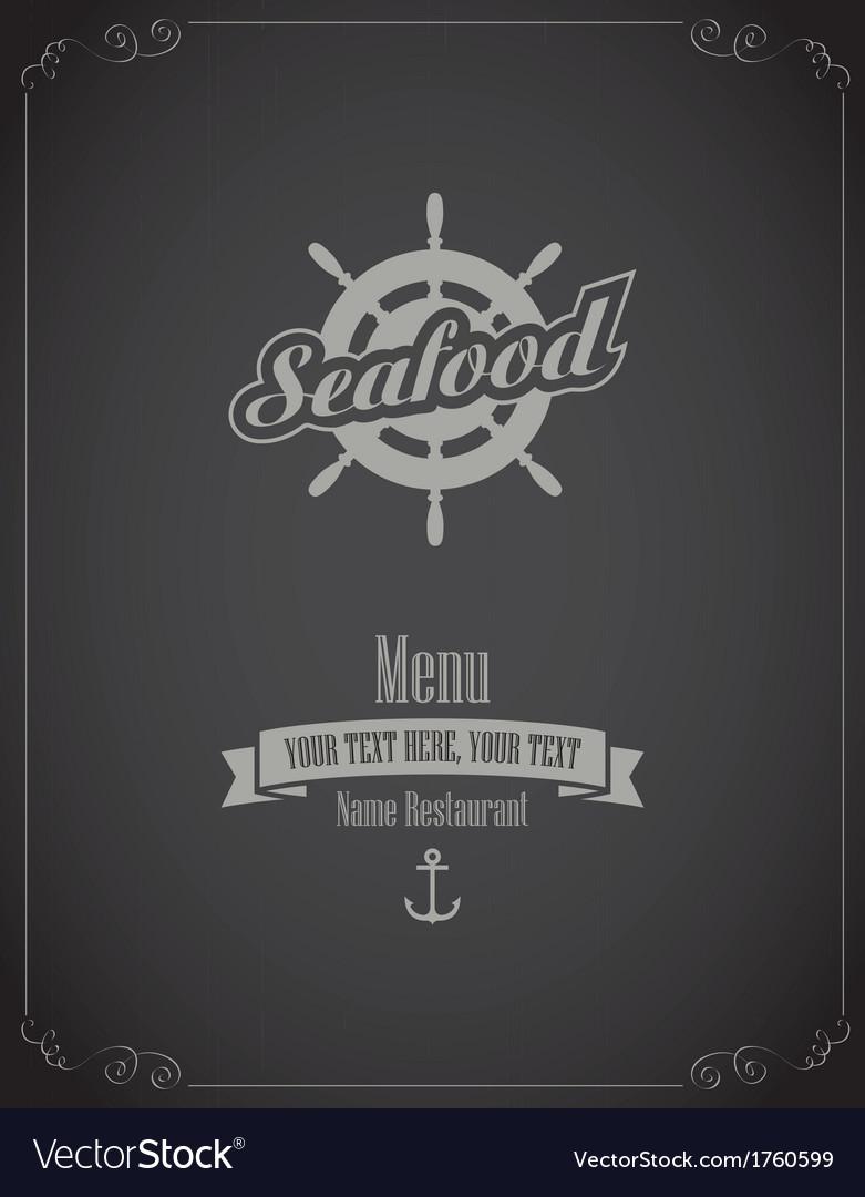 Seafood menu vector | Price: 1 Credit (USD $1)