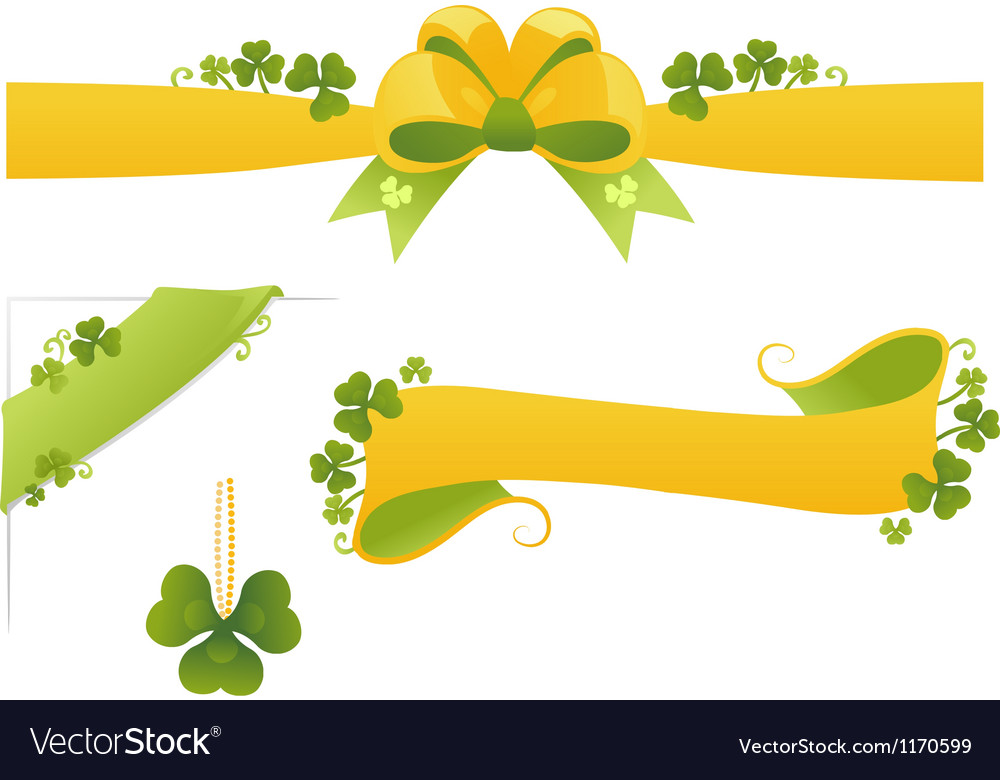 Set of floral banners element for design vector | Price: 1 Credit (USD $1)