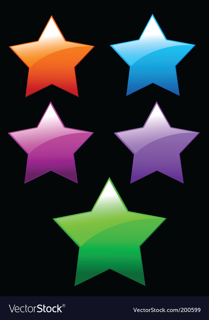 Simple shiny stars buttons vector | Price: 1 Credit (USD $1)