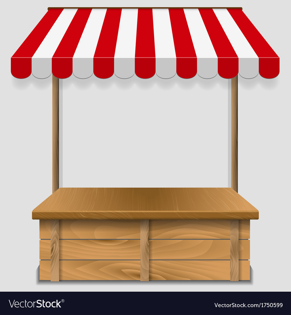 Store window with striped awning vector | Price: 1 Credit (USD $1)