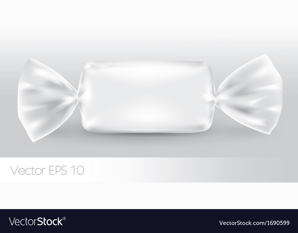White rectangular candy package vector | Price: 1 Credit (USD $1)