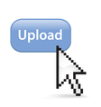 Upload button click vector