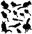 Chipmunk silhouette animal clip art vector