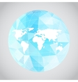 Mono blue background of earth vector