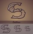 Halloween decorative alphabet - s letter vector