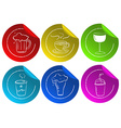 Beverage stickers vector