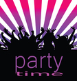 Party time with people vector