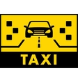 Yelow taxi background with cab on road vector