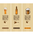 Beer menu vector