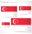 Singapore flag template vector