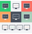 Responsive web design on different monitors vector