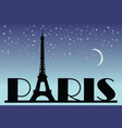 Paris typography vector