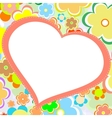 Beautiful bright flower heart card vector