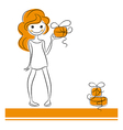Fashion girl with gifts vector