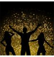 Party people and mosaic background vector