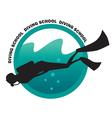 Diving school logo vector