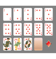 Playing cards diamond suit vector