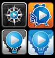 Mobile player app icon vector