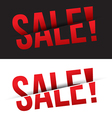 Sale cut on black and white background vector