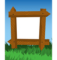 Frame made of fence logs vector