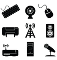 Digital music icons vector
