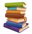 Multi colored books vector
