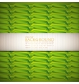 Abstract green background with ribbons vector