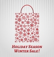Christmas background with a shopping bag vector