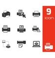 Balck printer icons set vector
