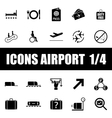 Set of icons airport vector
