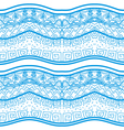 Blue seamless pattern with nature elements vector