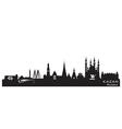 Kazan russia city skyline detailed silhouette vector