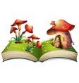 Mushroom book vector