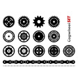 Cogwheel set vector