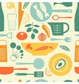 Colorful kitchen pattern vector
