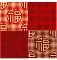 Chinese fu good luck happiness pattern vector