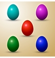 Set of colored eastern eggs vector