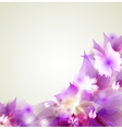 Abstract floral colorful background in pink vector