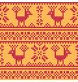 Cross stitch flower and deer vector