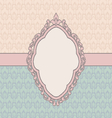 Vintage card design with tag scrap template old vector