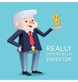 Experienced investor businessman character vector